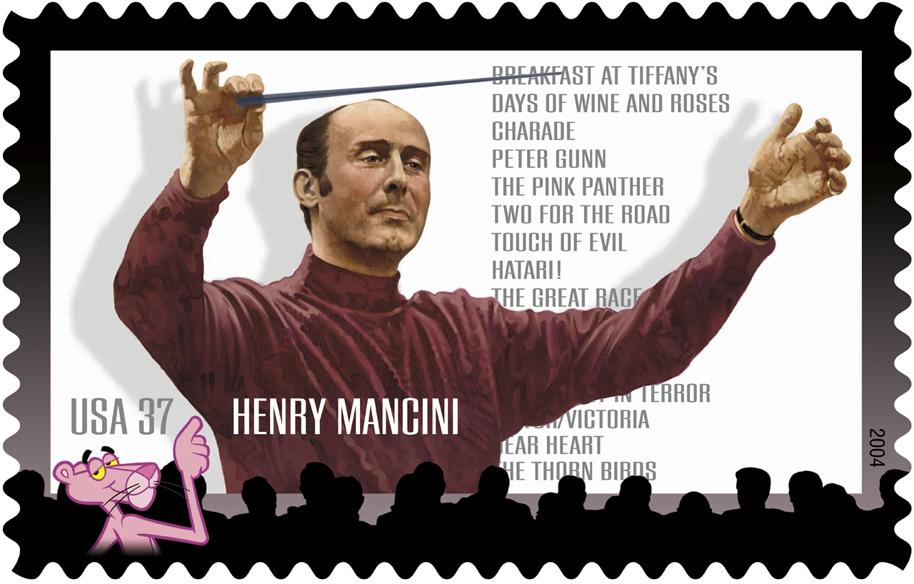 Henry Mancini Postal Stamp by Victor Stabin