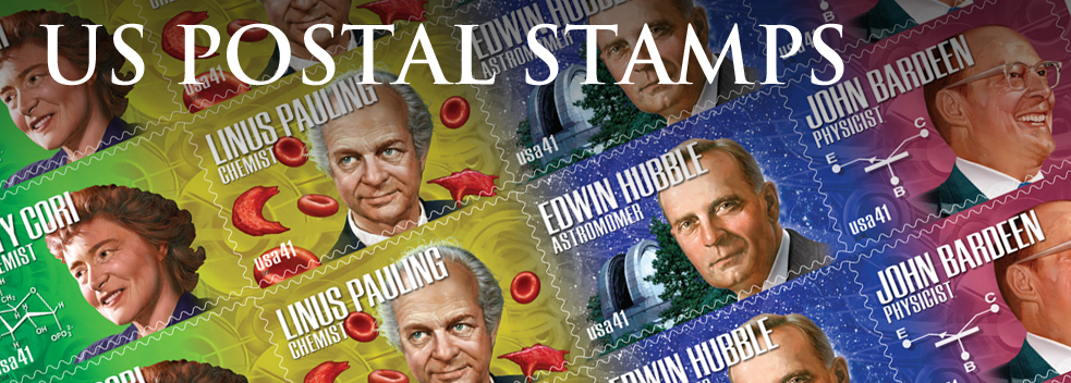 Scientists US Postal Stamps