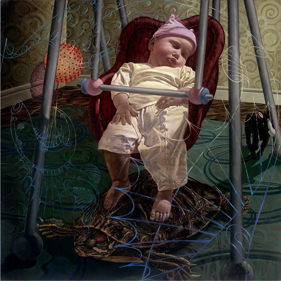 Arielle in Slumberland - Oil Painting - Victor Stabin