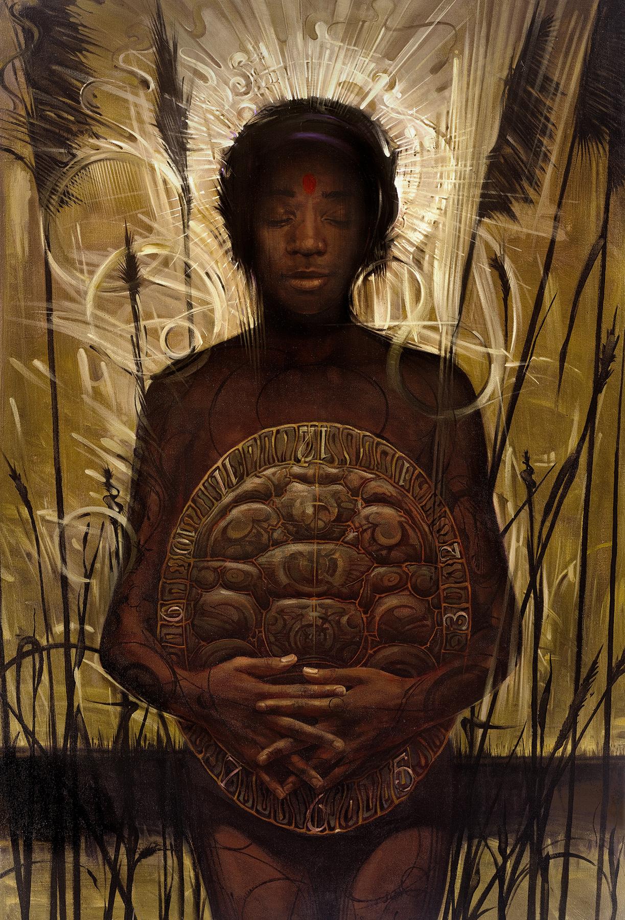 Nubian - Oil Painting - Victor Stabin