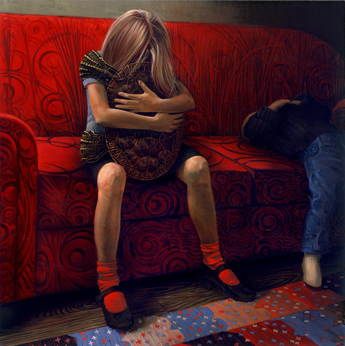 Red Socks - Oil Painting - Victor Stabin