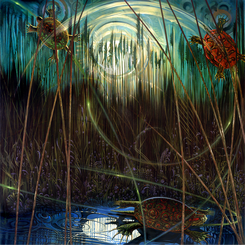 Secret Life of Turtles - Oil Painting - Victor Stabin